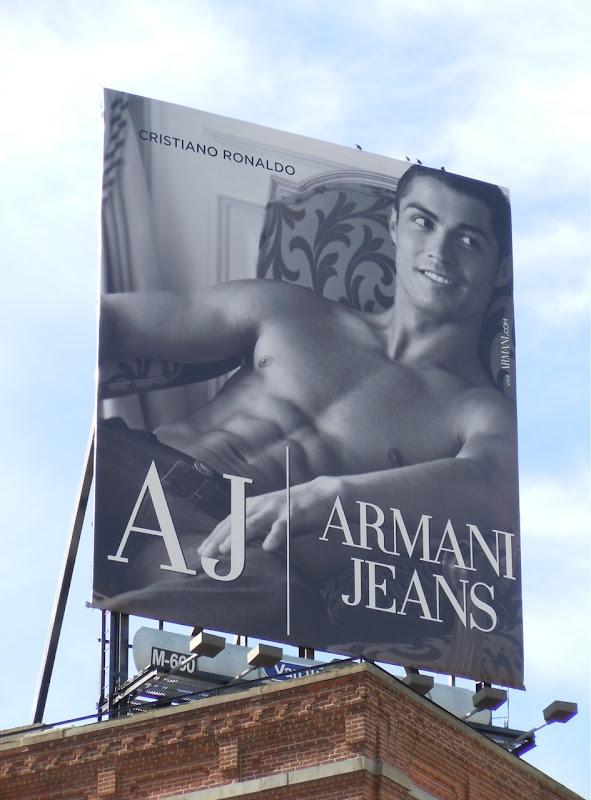 Cristiano Ronaldo Armani Jeans six-pack billboard