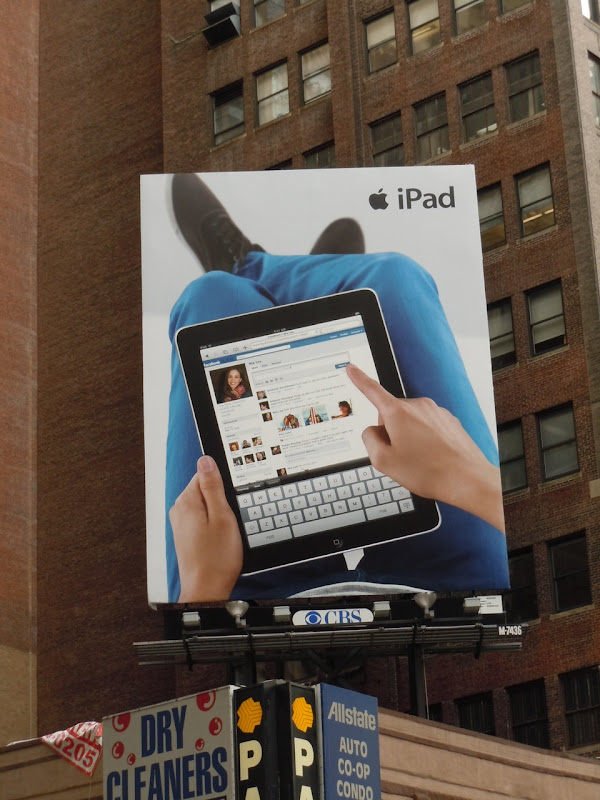 iPad billboard New York