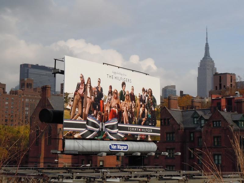 The Hilfigers Holidays 2010 billboard