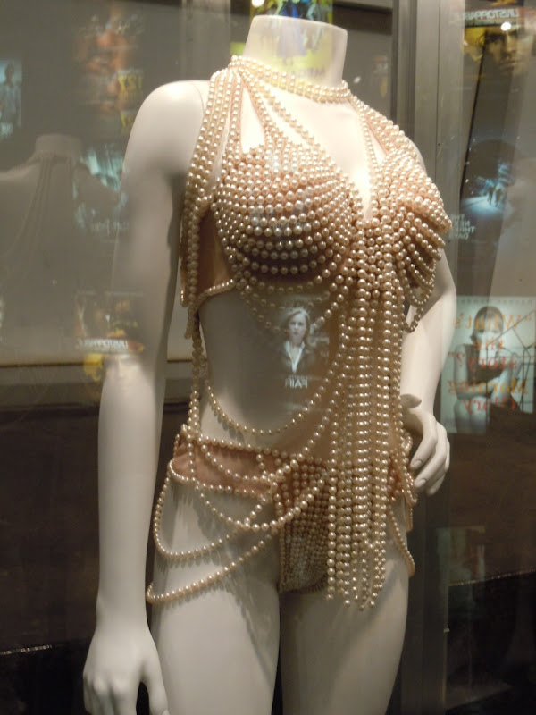Christina Aguilera Burlesque string pearl outfit