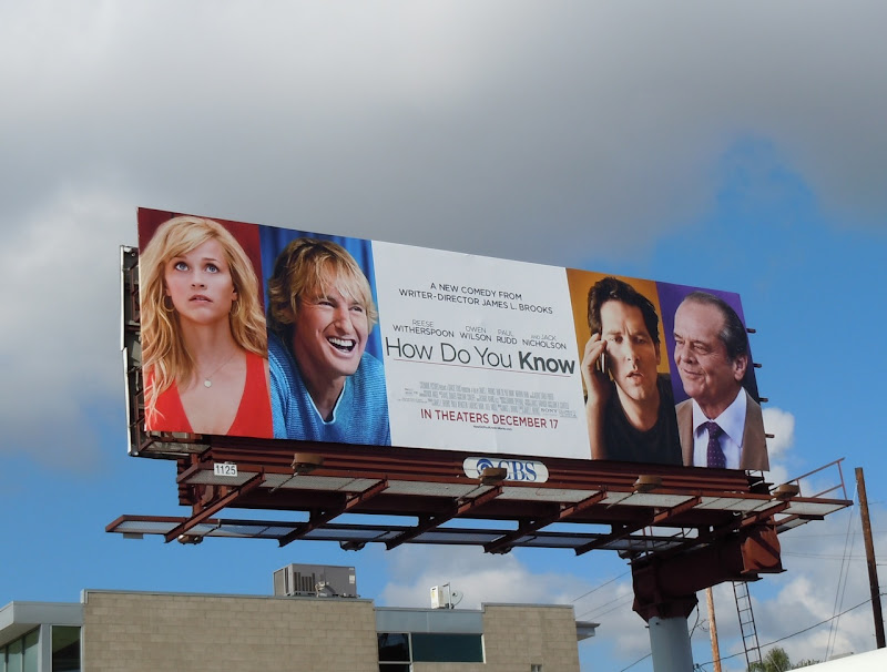 How Do You Know movie billboard