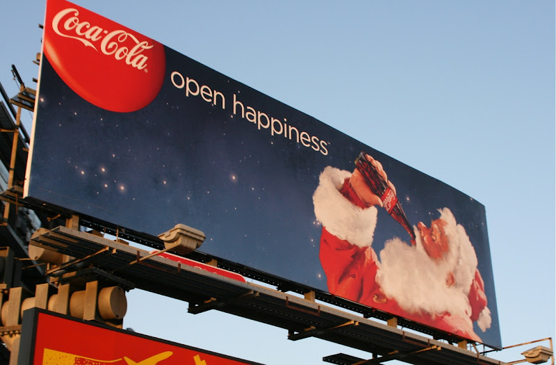 Coke open happiness Christmas 09 billboard