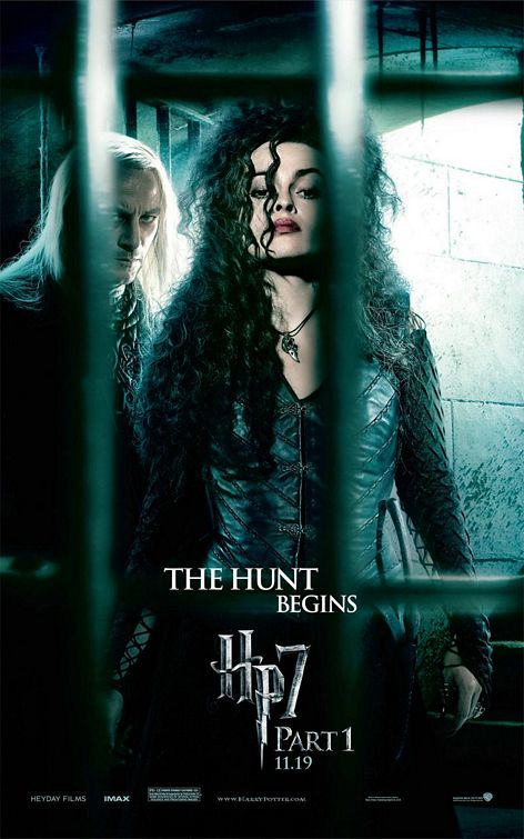 Bellatrix and Lucius Harry Potter 7 poster