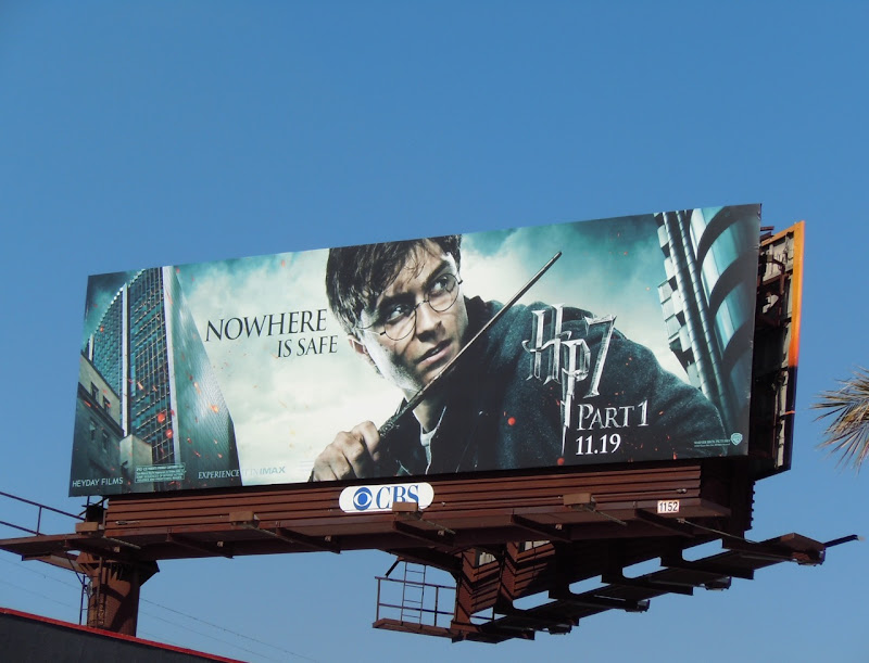 Harry Potter Nowhere is Safe billboard