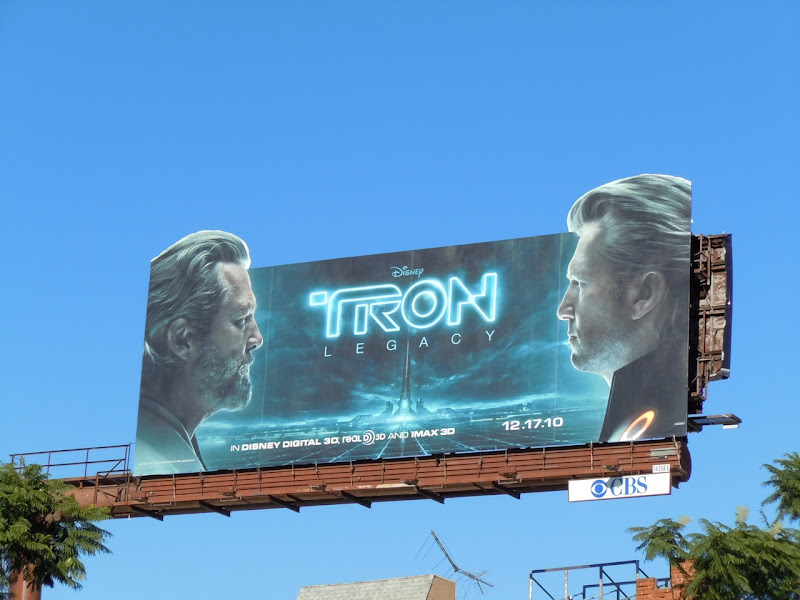 Tron Legacy Flynn and Clu billboard