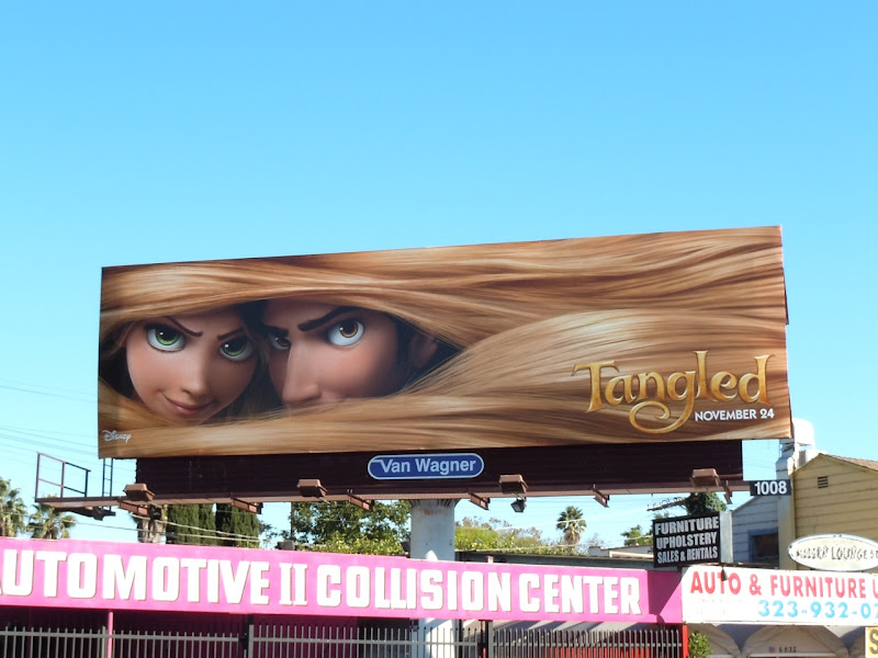 Disney's Tangled movie billboard