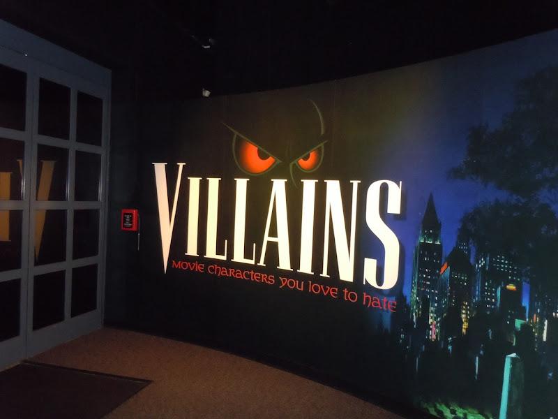 Villains costume exhibit