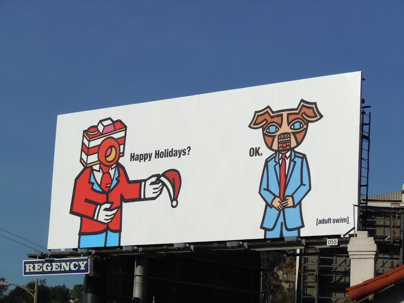 Adult Swim Happy Holidays 2010 billboard