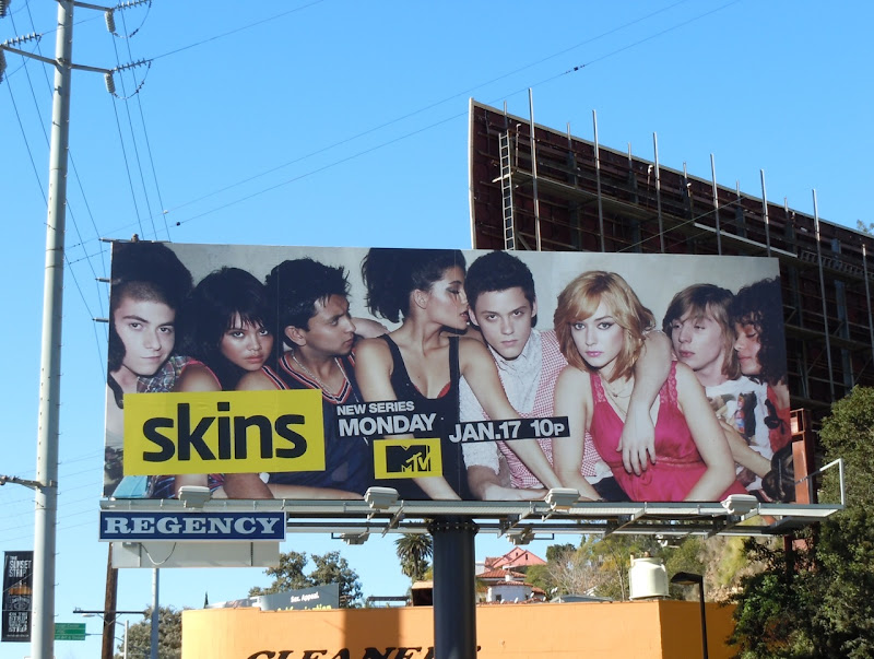 Skins remake TV billboard