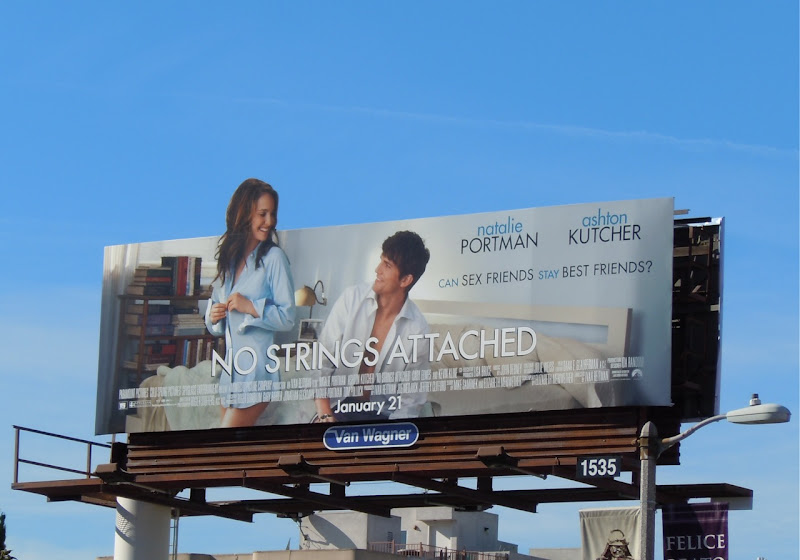 No Strings Attached film billboard