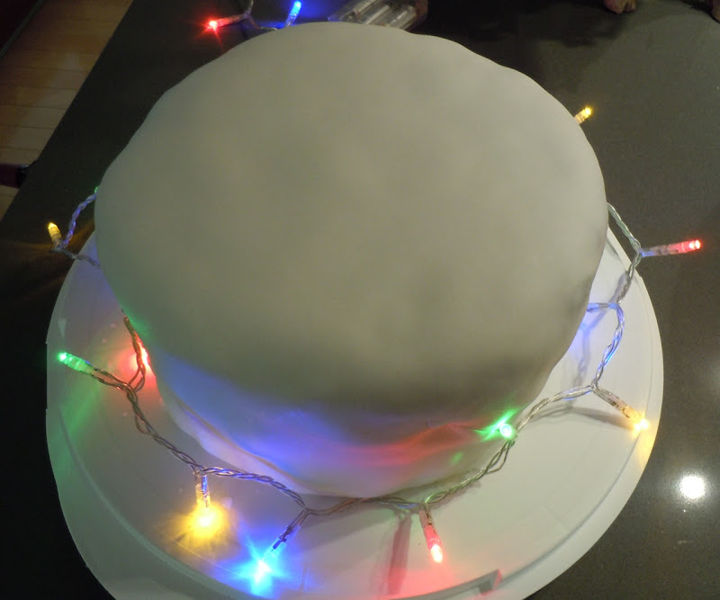 Iced Christmas Cake