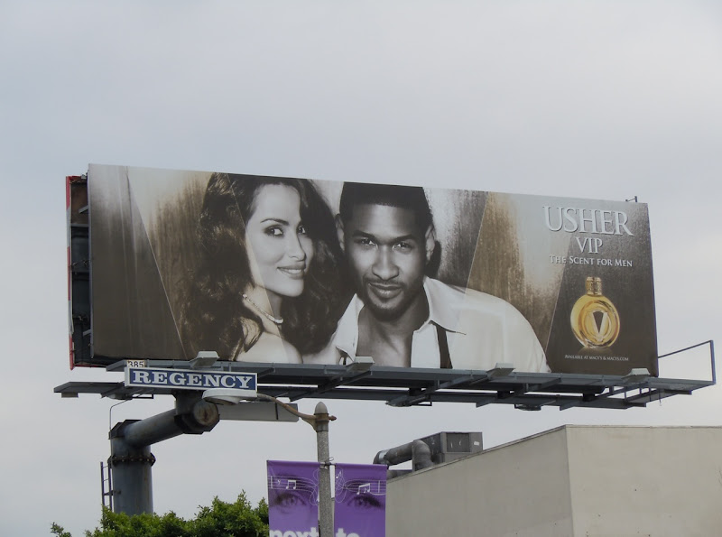 Usher VIP scent for men billboard