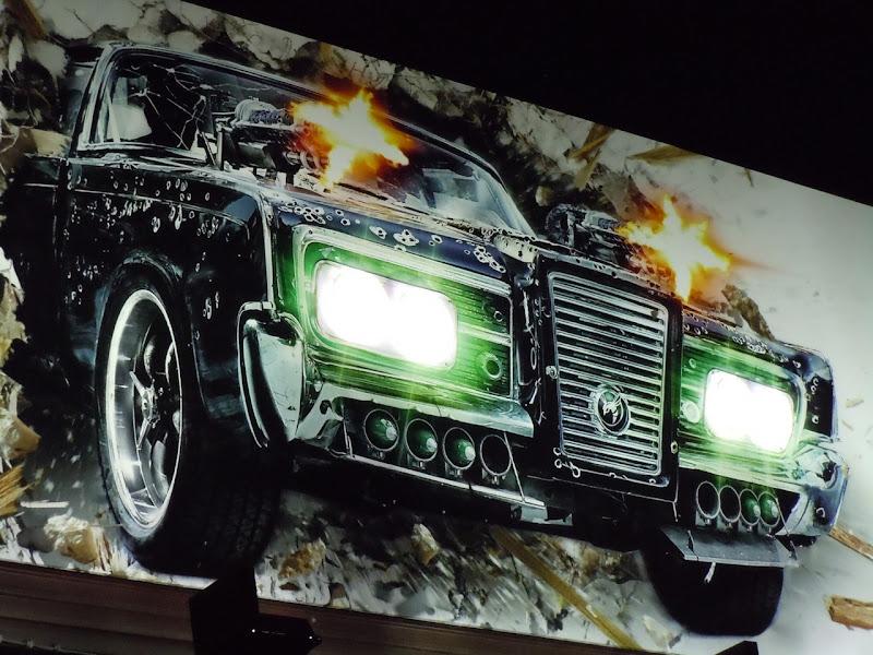 The Green Hornet billboard car lights