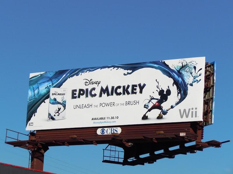 Epic Mickey wii game billboard