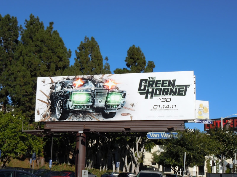 Green Hornet film billboard