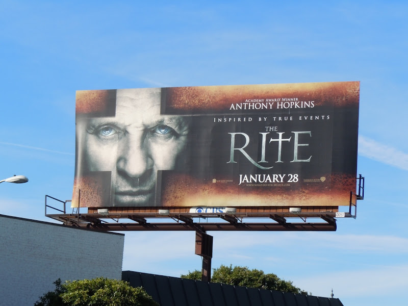 The Rite movie billboard