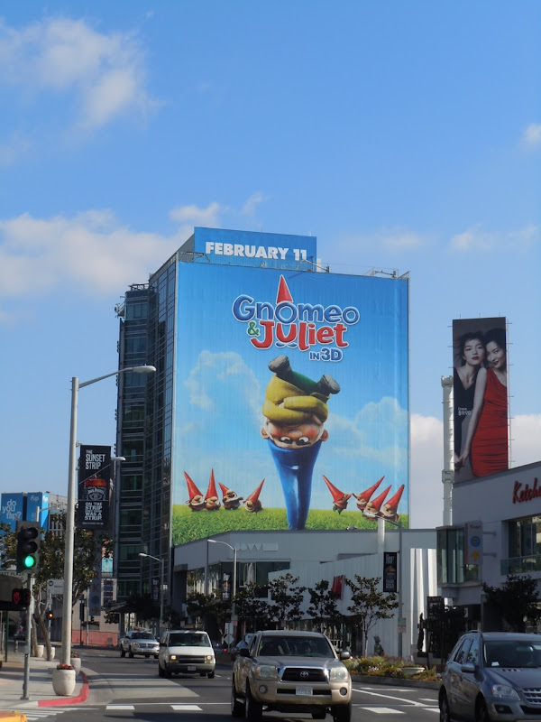 Gnomeo and Juliet billboard Sunset Strip