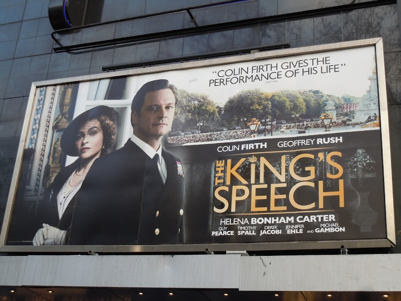 The King's Speech movie billboard