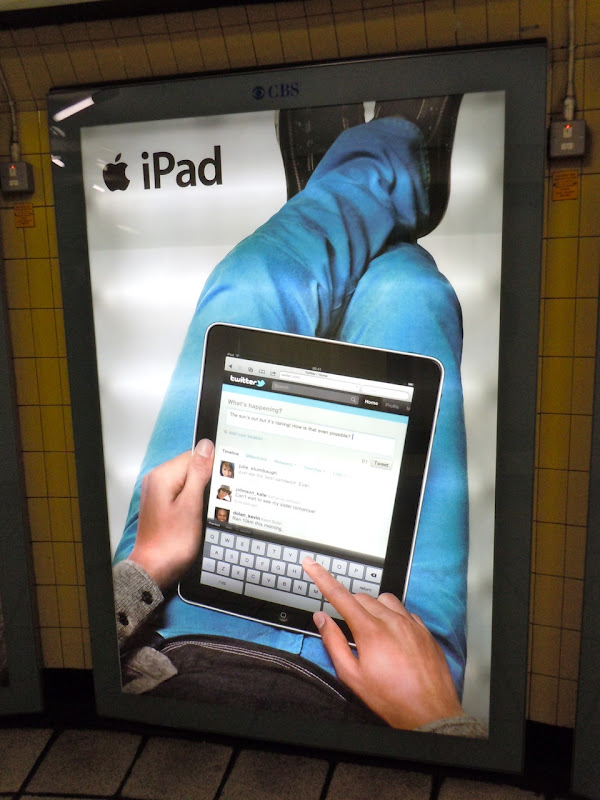 Apple iPad underground poster