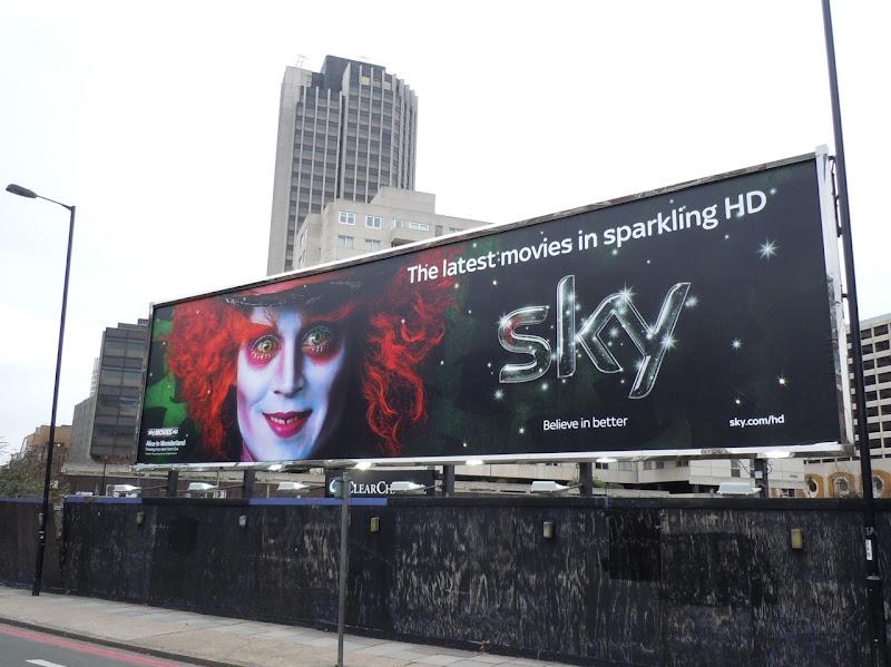 Alice in Wonderland SKY movie billboard