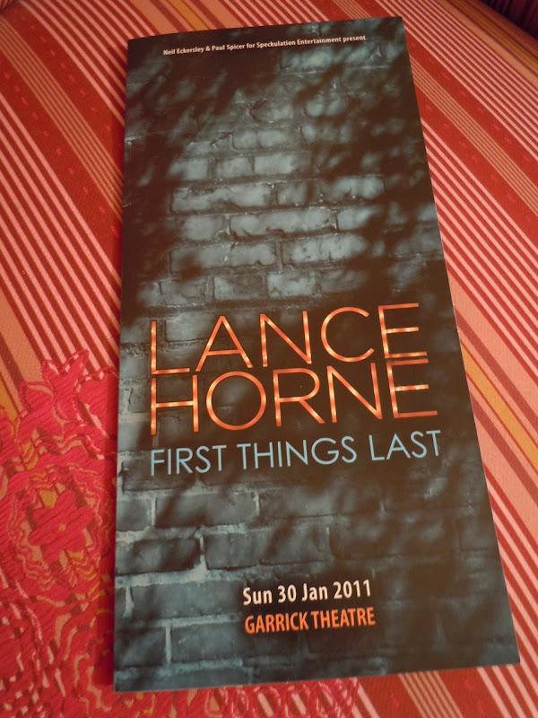 Lance Horne show program