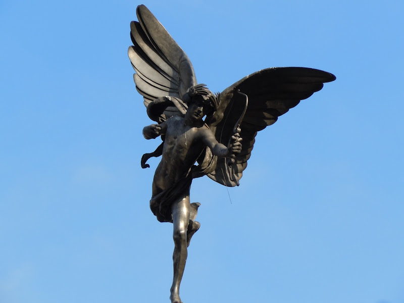 Eros sculpture Piccadilly Circus