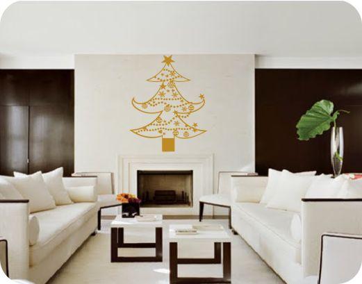 Decoracion de interiores con vinilos decorativos navideños ...