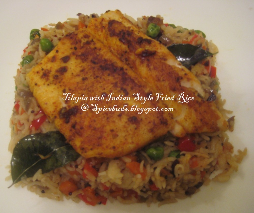 Spicebuds tilapia with indian style fried rice for Fish fried rice
