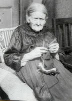 grandma knitting