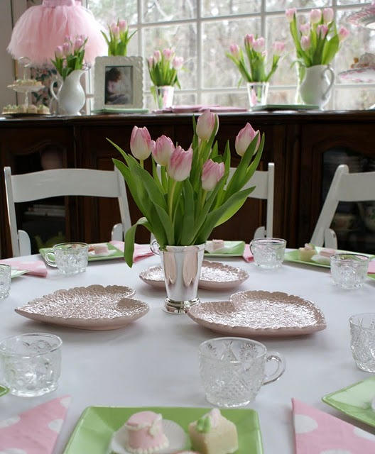 Tea Party Centerpieces: Stylish Childrens Parties: Ballet Birthday Party