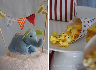 Baby Shower Elephant Favors on Stylish Childrens Parties  Vintage Circus Baby Shower