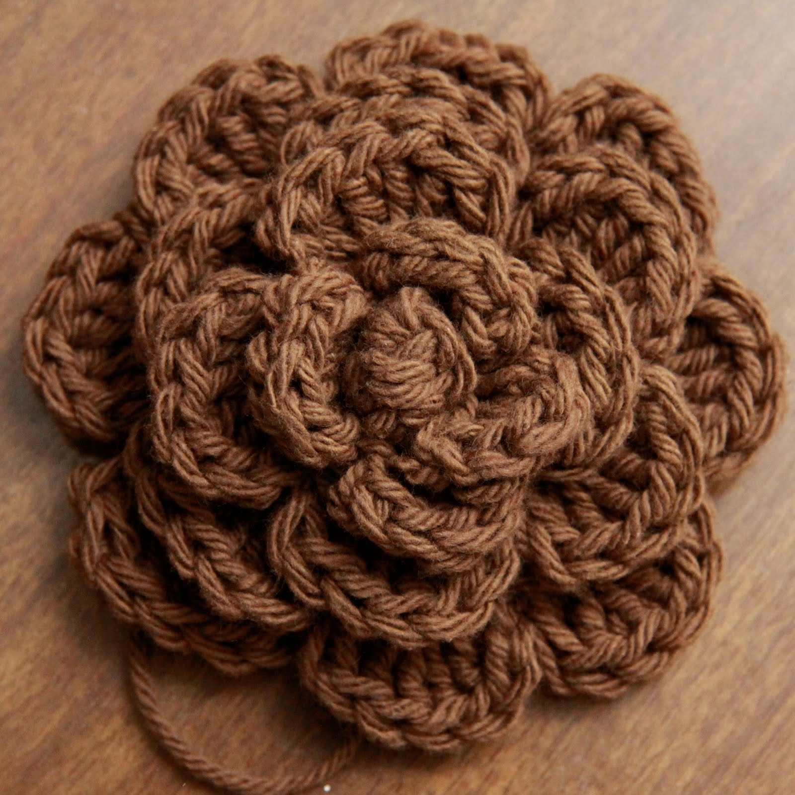 Free Crochet Pattern Large Flower : 2 Crazy 4 Crafting: Crochet Hair Accessories