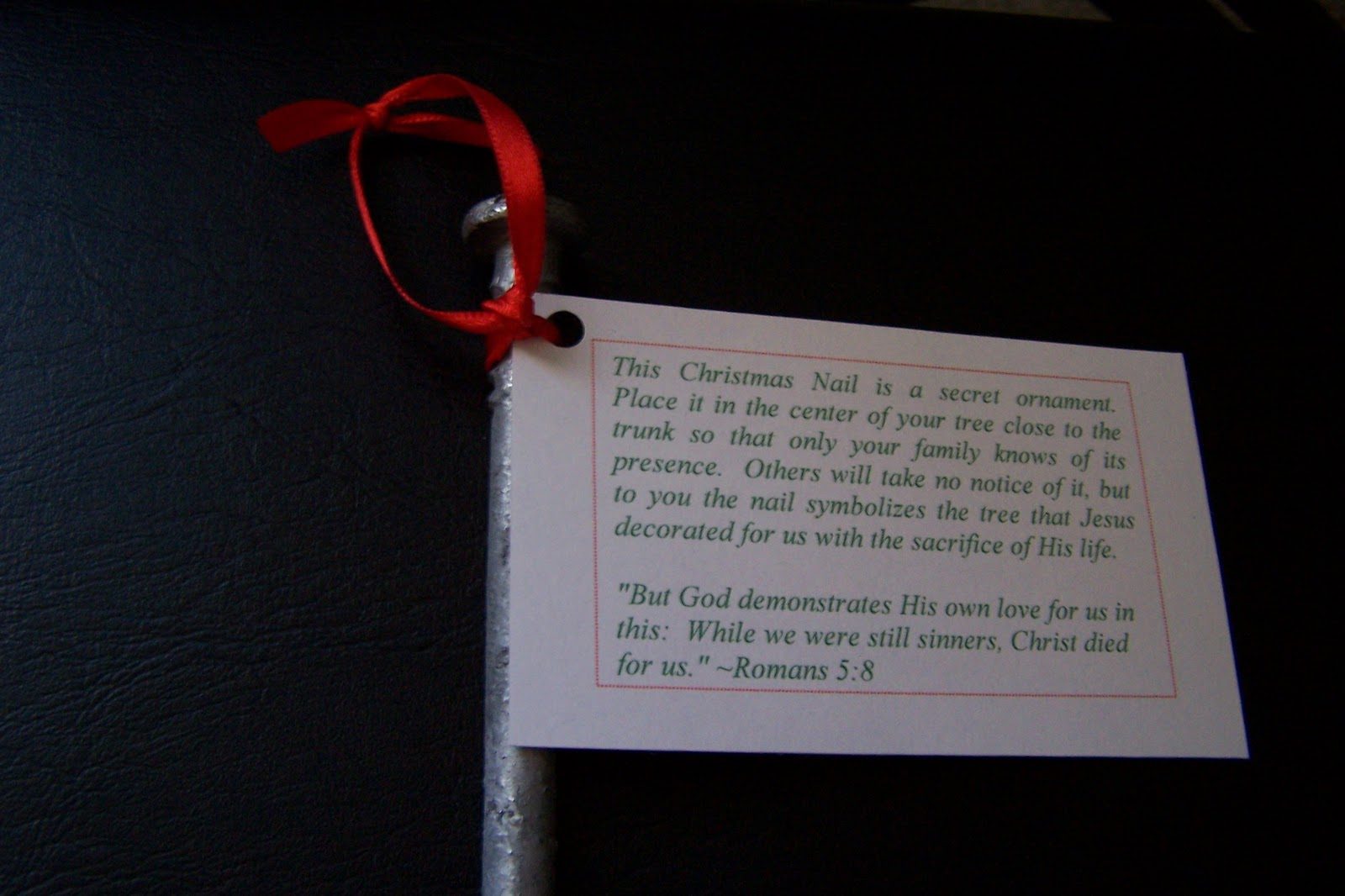 The christmas nail ornament - Pray Over Each Ornament And Experience The Incredible Joy Of Blessing The Unexpected Recipient With A Special Gift