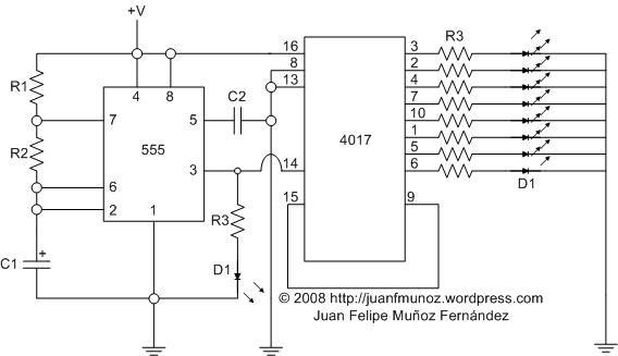 Circuito Luces Led Intermitentes : Electronica secuenciador con