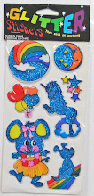 80&#39;s Puffy Glitter Sticker Pack