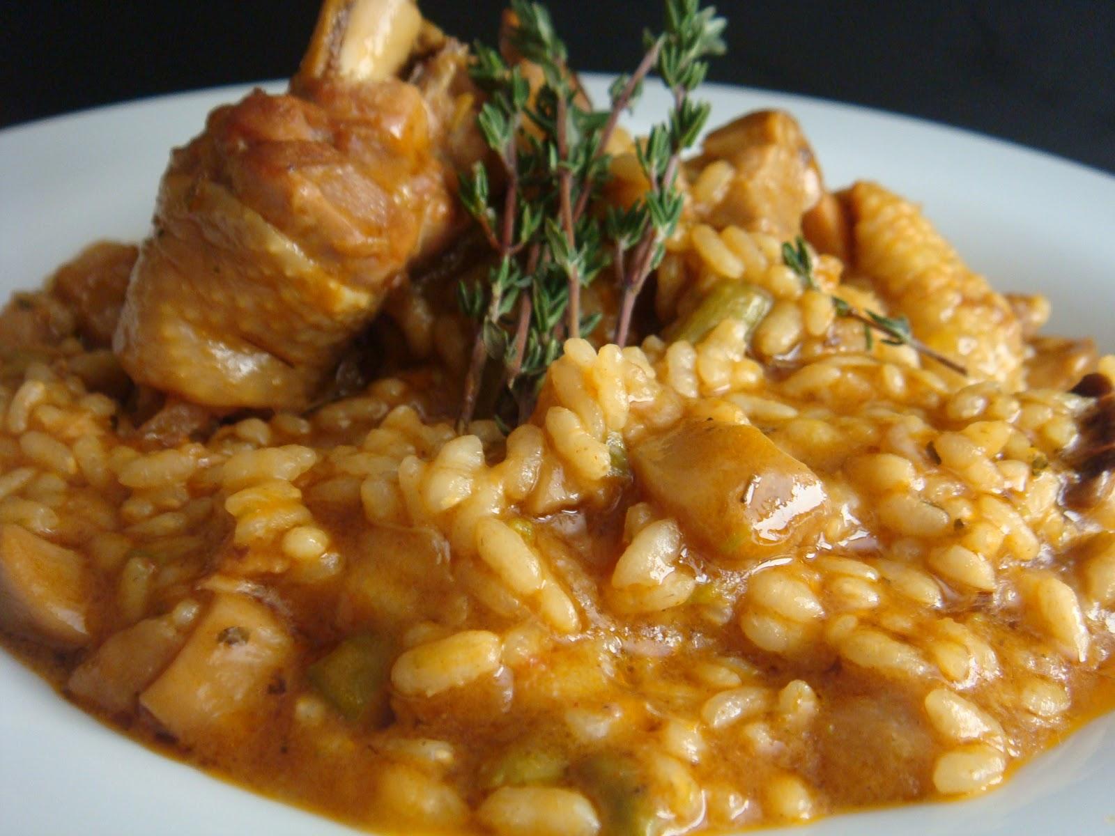Arroz Caldoso Con Setas Y Pollo tomates verdes fritos: arroz meloso campero