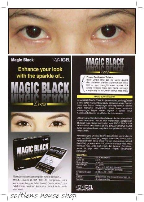 softlens MAGIC BLACK [ softlens warna hitam ]  berfungsi untuk membesarkan pupil .