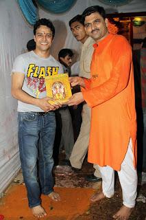 Aksshat Raaj Saluja with Shailesh Bhujbal