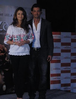 Aishwarya RB and Hrithik at first promo launch of Guzaarish