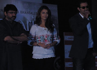 Sanjay, Aishwarya and Hrithik at first promo launch of Guzaarish