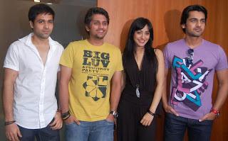 (L to R) Emraan Hashmi, Director Mohit Suri, Neha Sharma, Arjan Bajwa