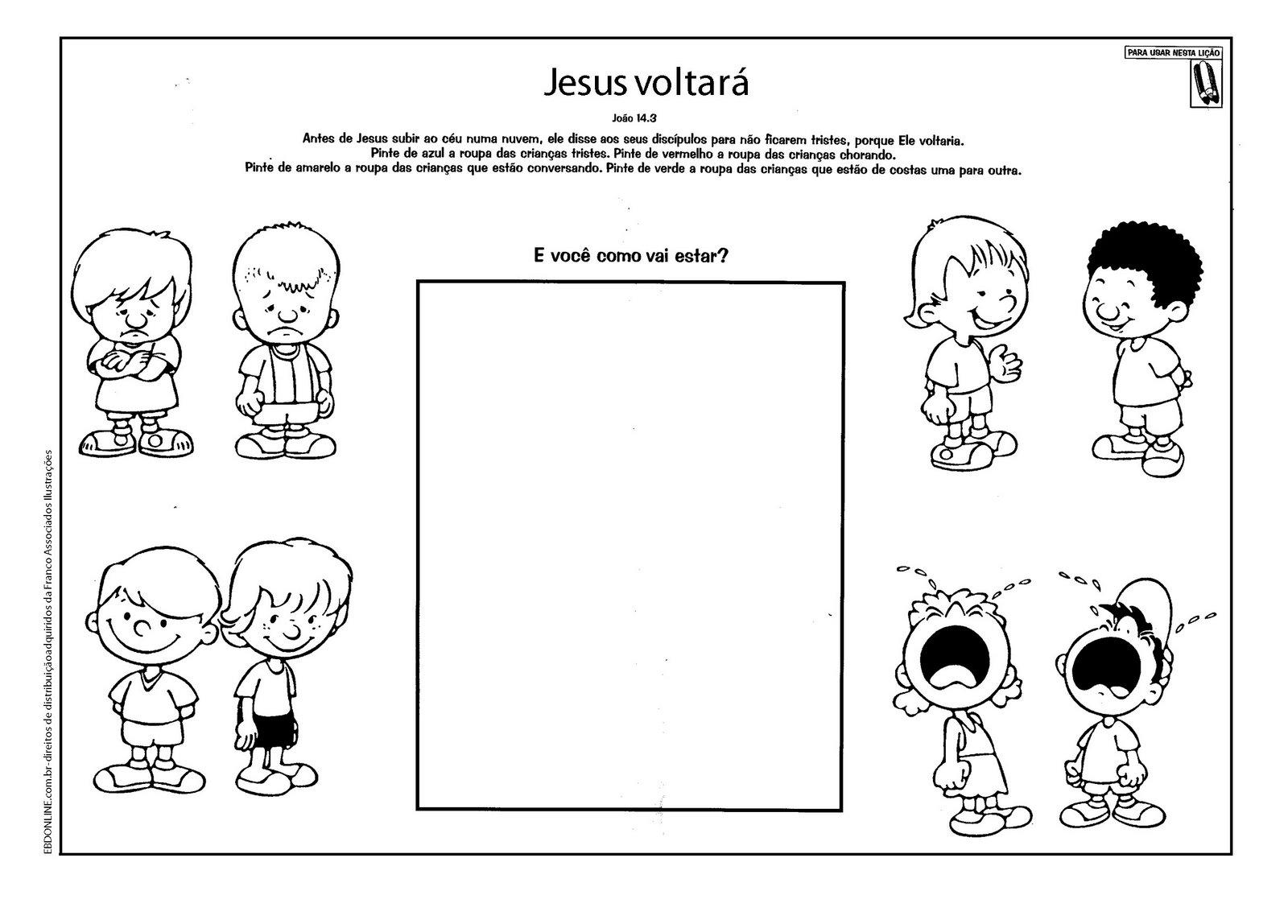 Famosos Cristãos kids: Estudo bíblico para crianças - A volta de Jesus  TA92
