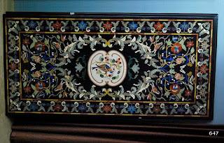 Black Marble Inlaid Art Tables