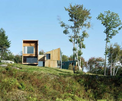 Modern Cedar House in Vermont Mountains