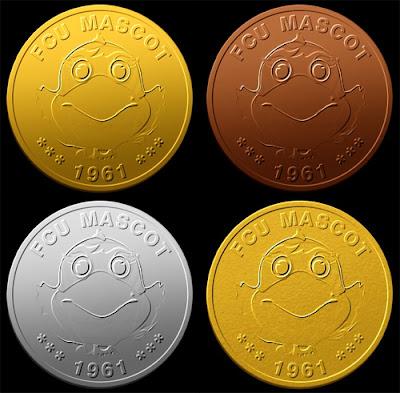 四種材質紀念幣