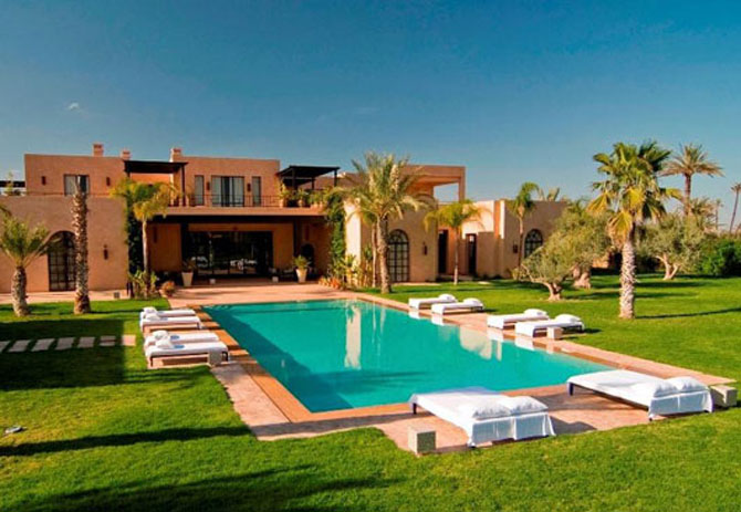 Luxury moroccan villa house design contemporary beautiful for Moroccan house design