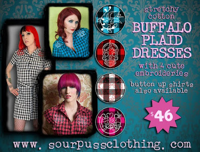 Buffalo plaid dresses are in stock now