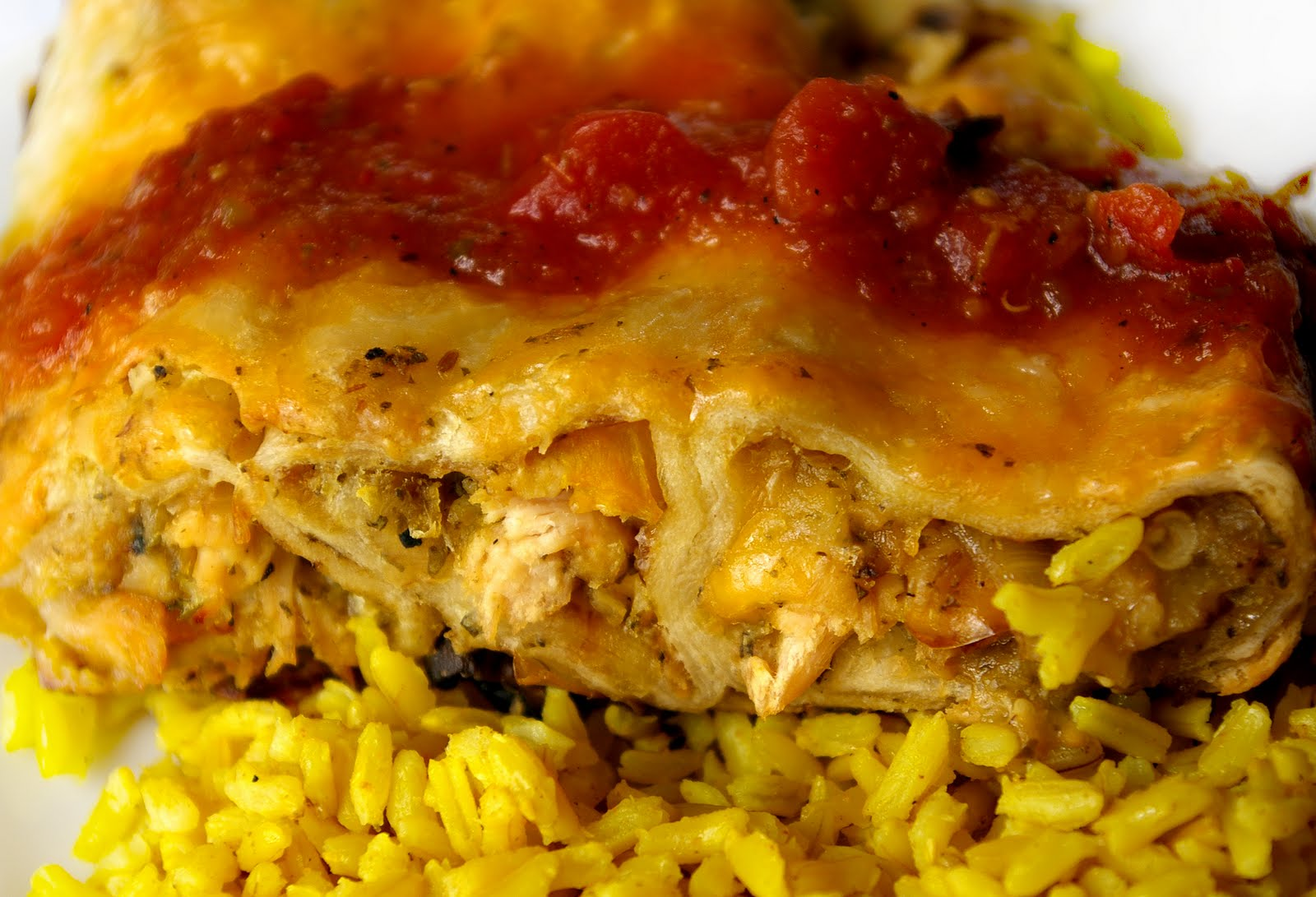 These Peas are Hollow: Grilled Chicken and Veggie Enchiladas