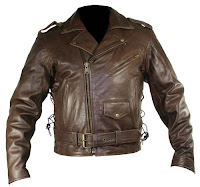 brown leather jacket with classy looking
