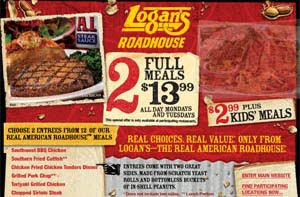 logans roadhouse nutrition